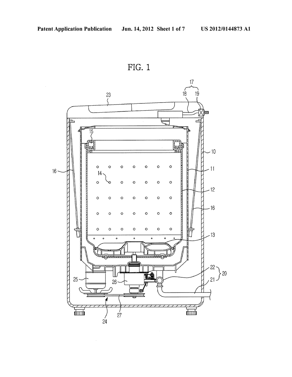 WATER LEVEL/VIBRATION DETECTION APPARATUS FOR WASHING MACHINE AND WASHING     MACHINE HAVING THE SAME - diagram, schematic, and image 02