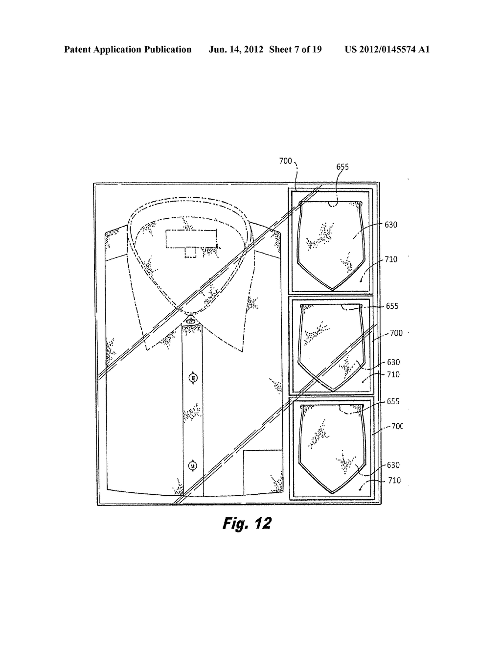 20120145574_08 transparent box and arrangement of articles of clothing therein