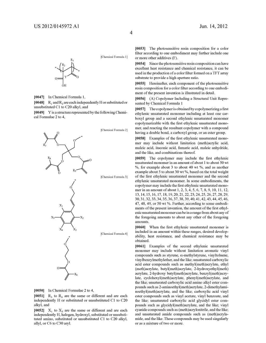 Photosensitive Resin Composition for Color Filter and Color Filter Using     the Same - diagram, schematic, and image 05