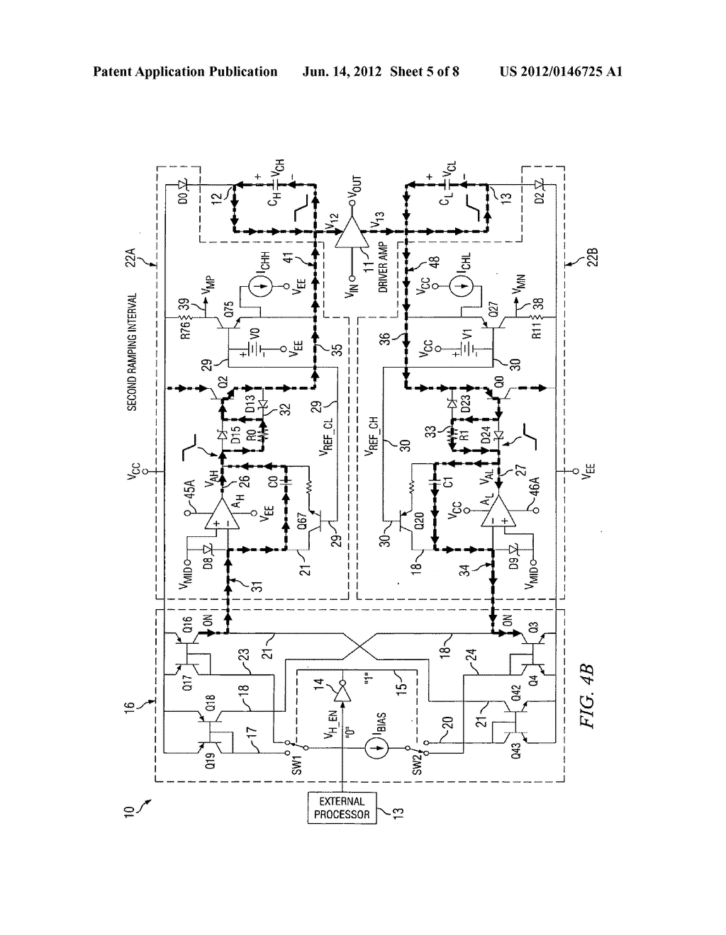 GATED CLASS H AMPLIFIER/LINE DRIVER SYSTEM AND METHOD - diagram, schematic,  and image 06