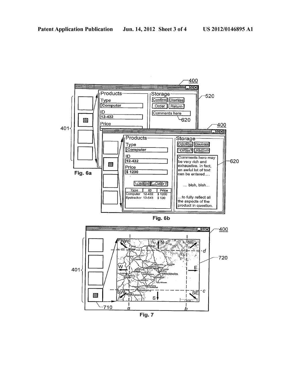 ARRANGEMENT, METHOD AND COMPUTER PROGRAM FOR CONTROLLING A COMPUTER     APPARATUS BASED ON EYE-TRACKING - diagram, schematic, and image 04