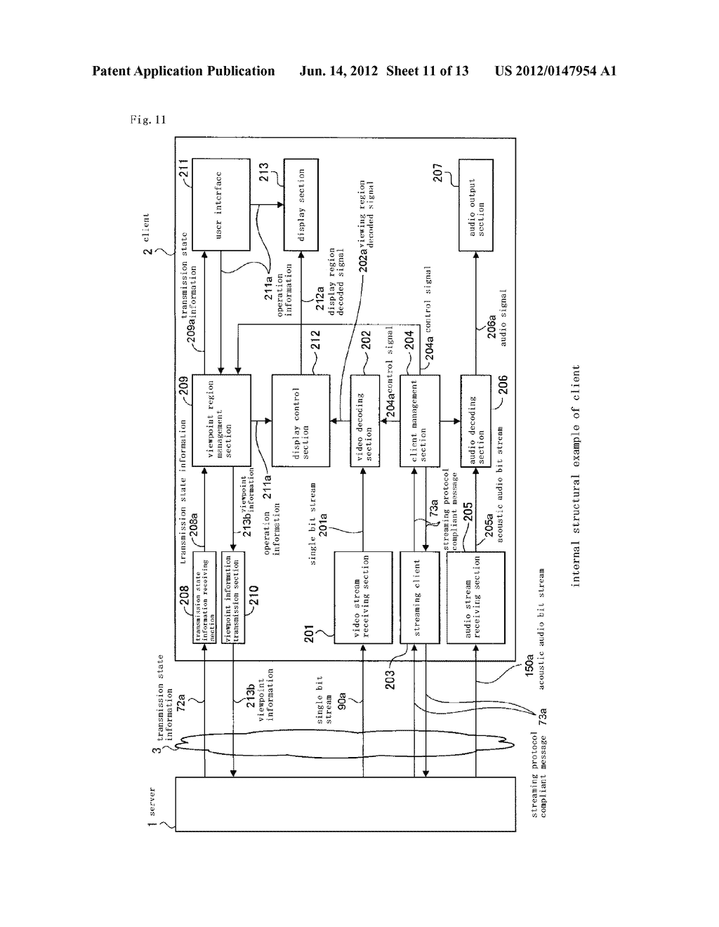 TRANSMITTING APPARATUS, RECEIVING APPARATUS, TRANSMITTING METHOD,     RECEIVING METHOD AND TRANSPORT SYSTEM - diagram, schematic, and image 12