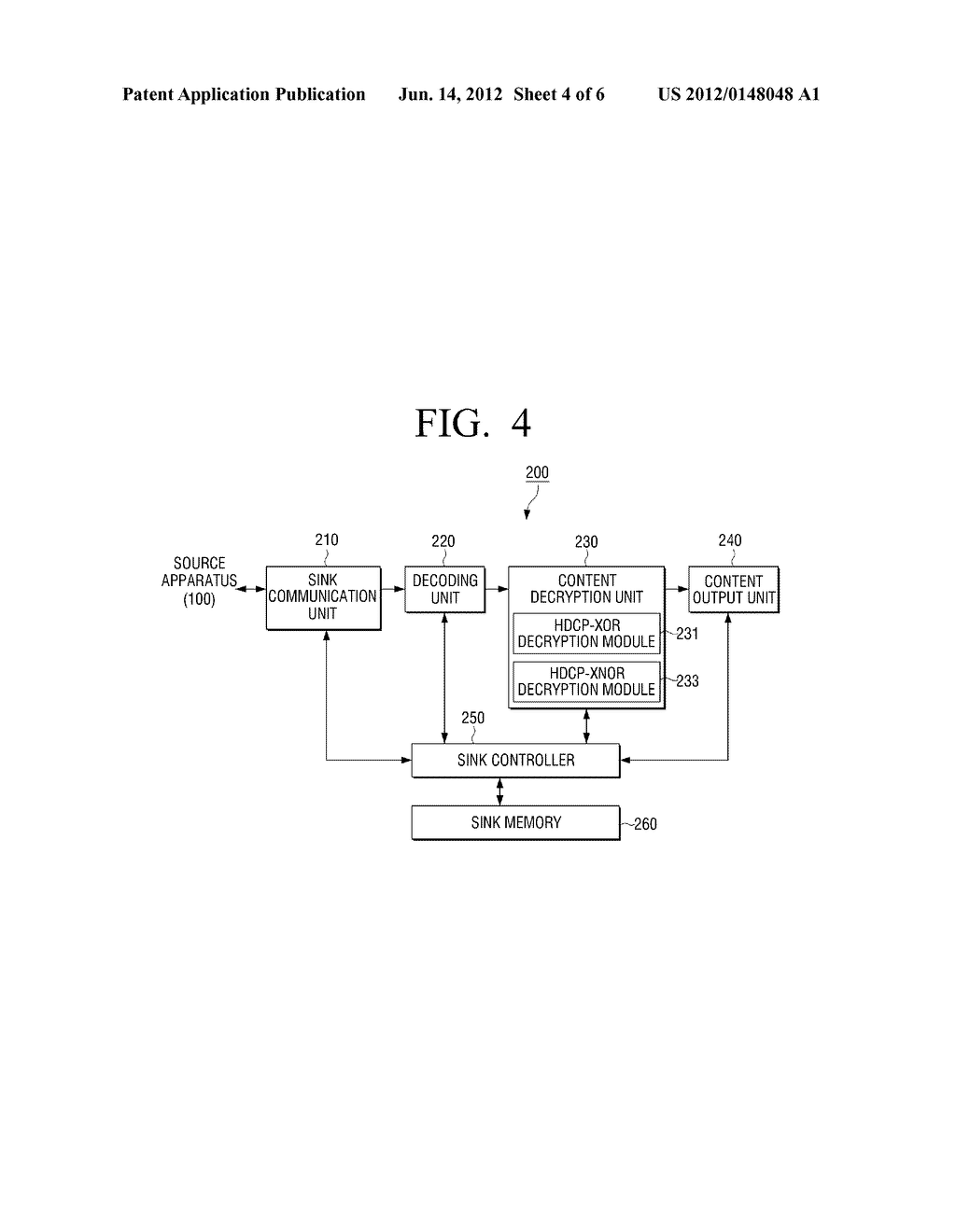 METHOD FOR ENCRYPTING CONTENT, METHOD FOR DECRYPTING CONTENT AND     ELECTRONIC APPARATUS APPLYING THE SAME - diagram, schematic, and image 05