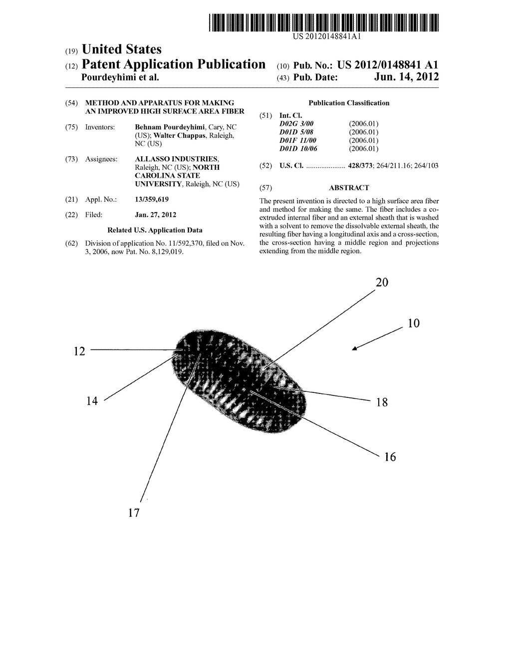 Method and Apparatus for Making an Improved High Surface Area Fiber - diagram, schematic, and image 01