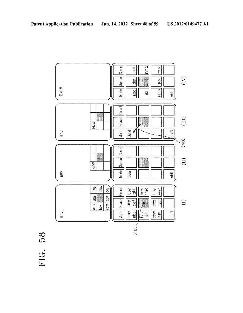 INFORMATION INPUT SYSTEM AND METHOD USING EXTENSION KEY - diagram, schematic, and image 49