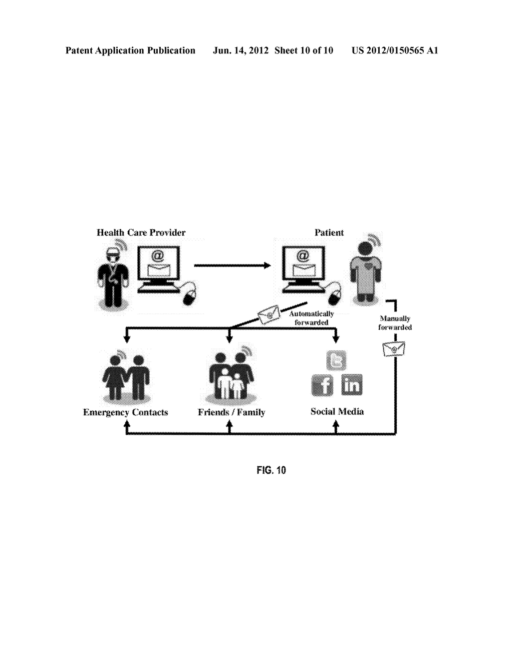 Patient Controlled and Initiated Method and System for Physician Reporting     of Patient Status - diagram, schematic, and image 11