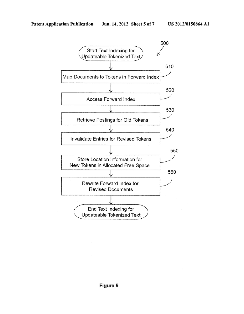 TEXT INDEXING FOR UPDATEABLE TOKENIZED TEXT - diagram, schematic, and image 06
