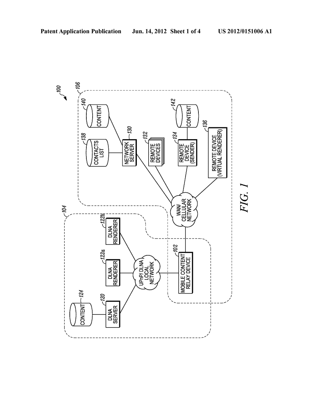 CONTENT SHARING BETWEEN A UNIVERSAL PLUG AND PLAY DEVICE AND A WIDE AREA     NETWORK DEVICE - diagram, schematic, and image 02