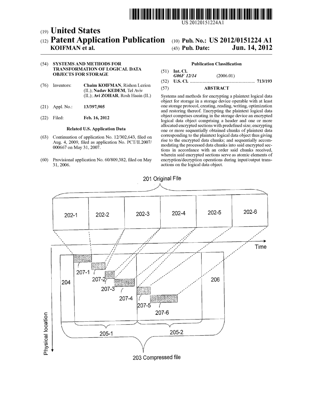 SYSTEMS AND METHODS FOR TRANSFORMATION OF LOGICAL DATA OBJECTS FOR STORAGE - diagram, schematic, and image 01