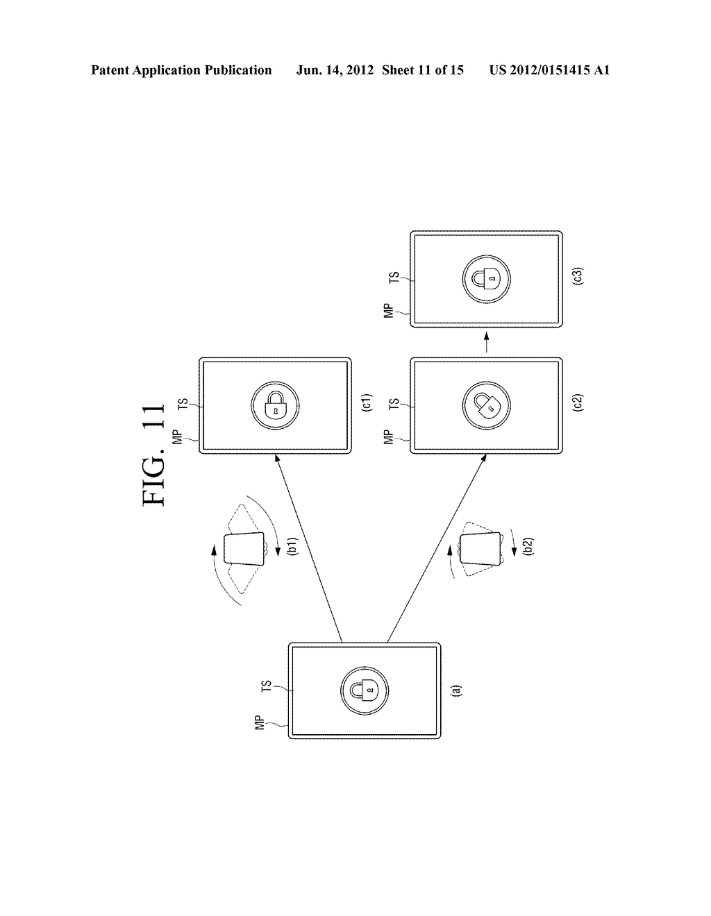 METHOD FOR PROVIDING A USER INTERFACE USING MOTION AND DEVICE ADOPTING THE     METHOD - diagram, schematic, and image 12