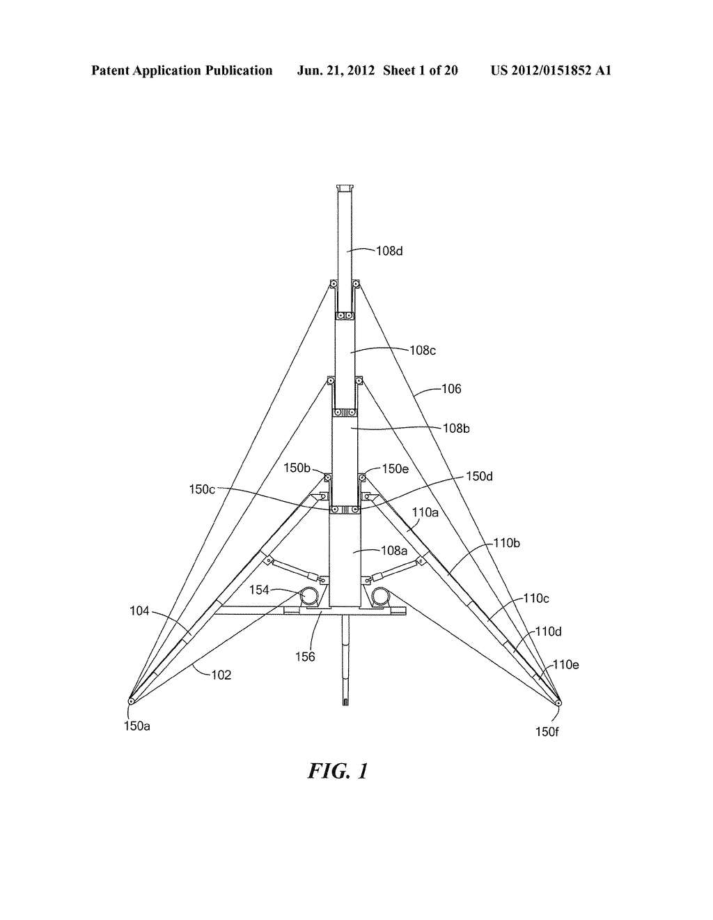 METHODS AND APPARATUS FOR ANTENNA HAVING GUY WIRE TELESCOPING - diagram, schematic, and image 02