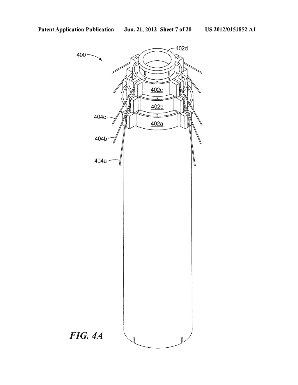 METHODS AND APPARATUS FOR ANTENNA HAVING GUY WIRE TELESCOPING - diagram,  schematic, and image 08