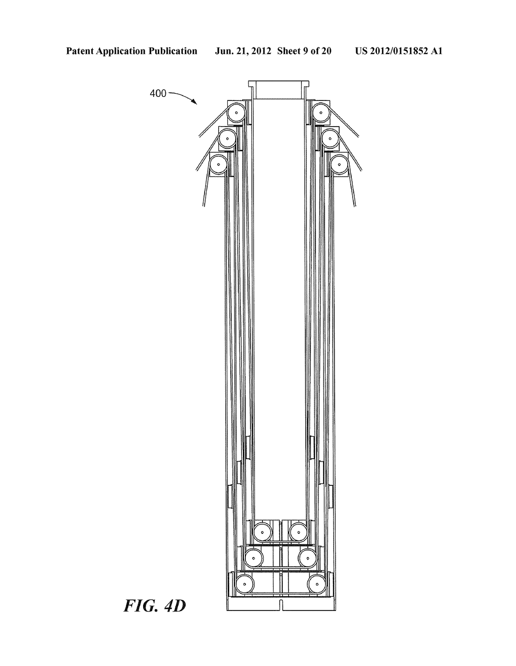 METHODS AND APPARATUS FOR ANTENNA HAVING GUY WIRE TELESCOPING - diagram, schematic, and image 10