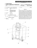 LUGGAGE CASE WITH A POWER DEVICE diagram and image