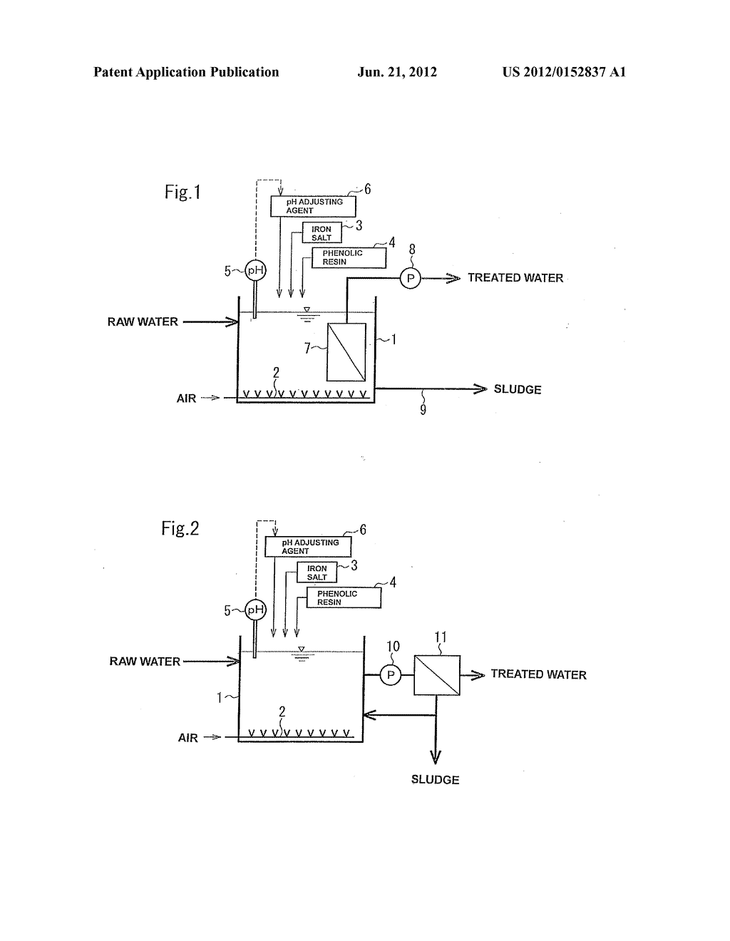 BIOLOGICAL TREATMENT METHOD OF ORGANIC-MATTER-CONTAINING WATER - diagram, schematic, and image 02