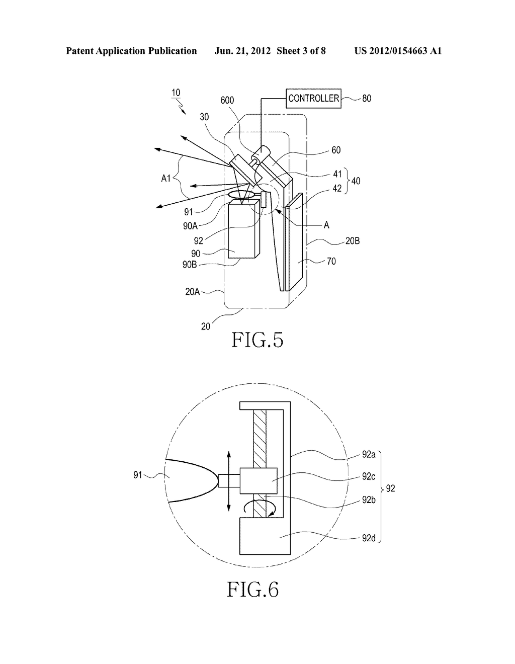 DUAL DISPLAY DEVICE FOR CAMERA APPARATUS HAVING PROJECTOR THEREIN - diagram, schematic, and image 04