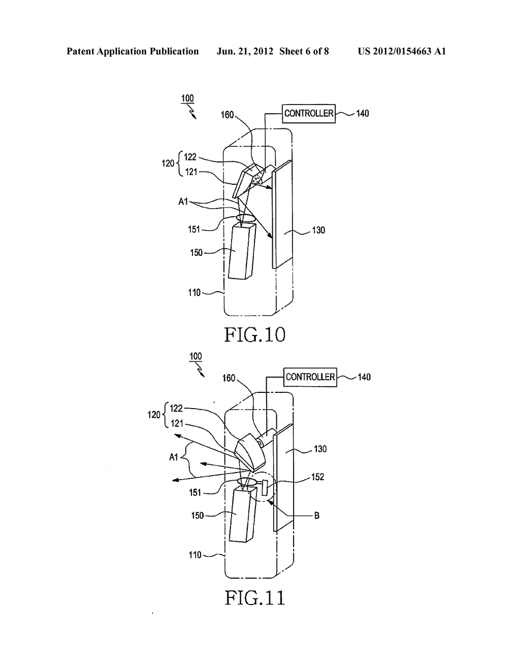 DUAL DISPLAY DEVICE FOR CAMERA APPARATUS HAVING PROJECTOR THEREIN - diagram, schematic, and image 07