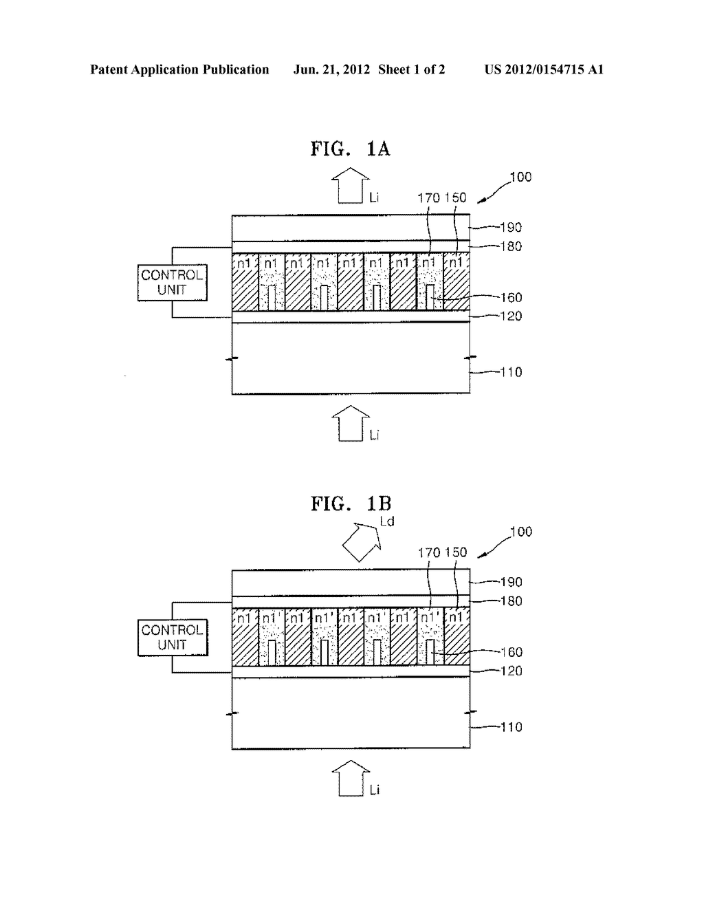 ACTIVE OPTICAL DEVICE EMPLOYING REFRACTIVE INDEX VARIABLE REGIONS - diagram, schematic, and image 02