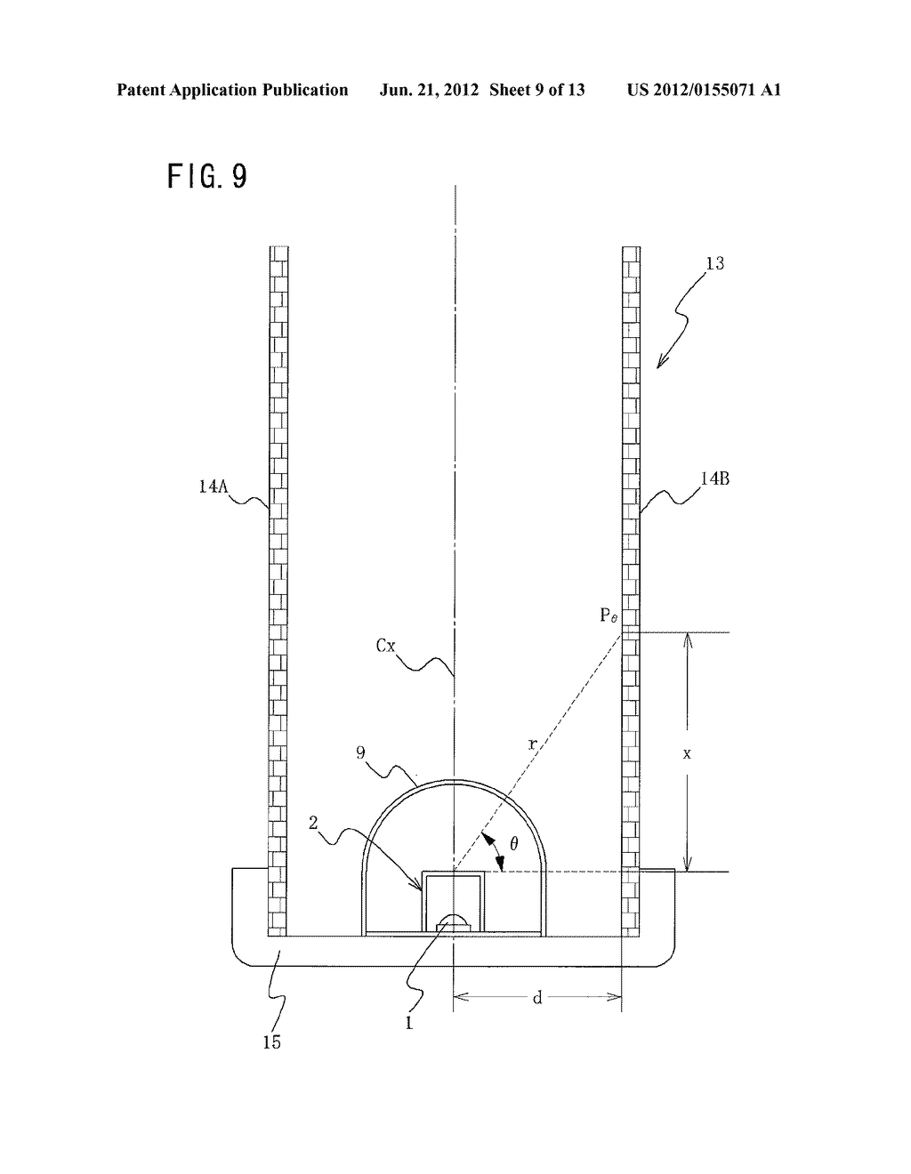 SURFACE ILLUMINATION METHOD USING POINT LIGHT SOURCE, LINEAR LIGHT SOURCE     DEVICE, AND SURFACE ILLUMINATION DEVICE USING LINEAR LIGHT SOURCE DEVICE - diagram, schematic, and image 10