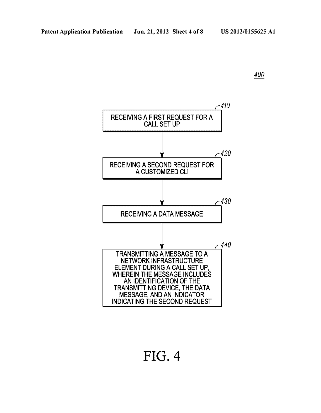 Method and Apparatus for Displaying a Customized Caller Line     Identification - diagram, schematic, and image 05