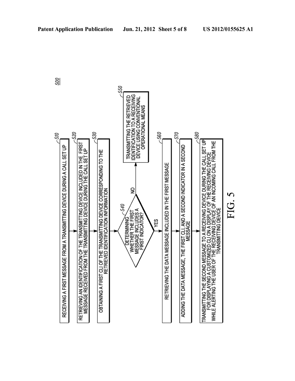 Method and Apparatus for Displaying a Customized Caller Line     Identification - diagram, schematic, and image 06