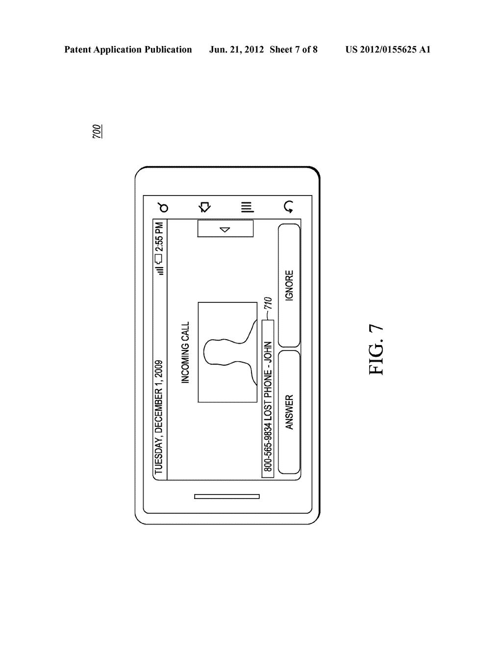 Method and Apparatus for Displaying a Customized Caller Line     Identification - diagram, schematic, and image 08