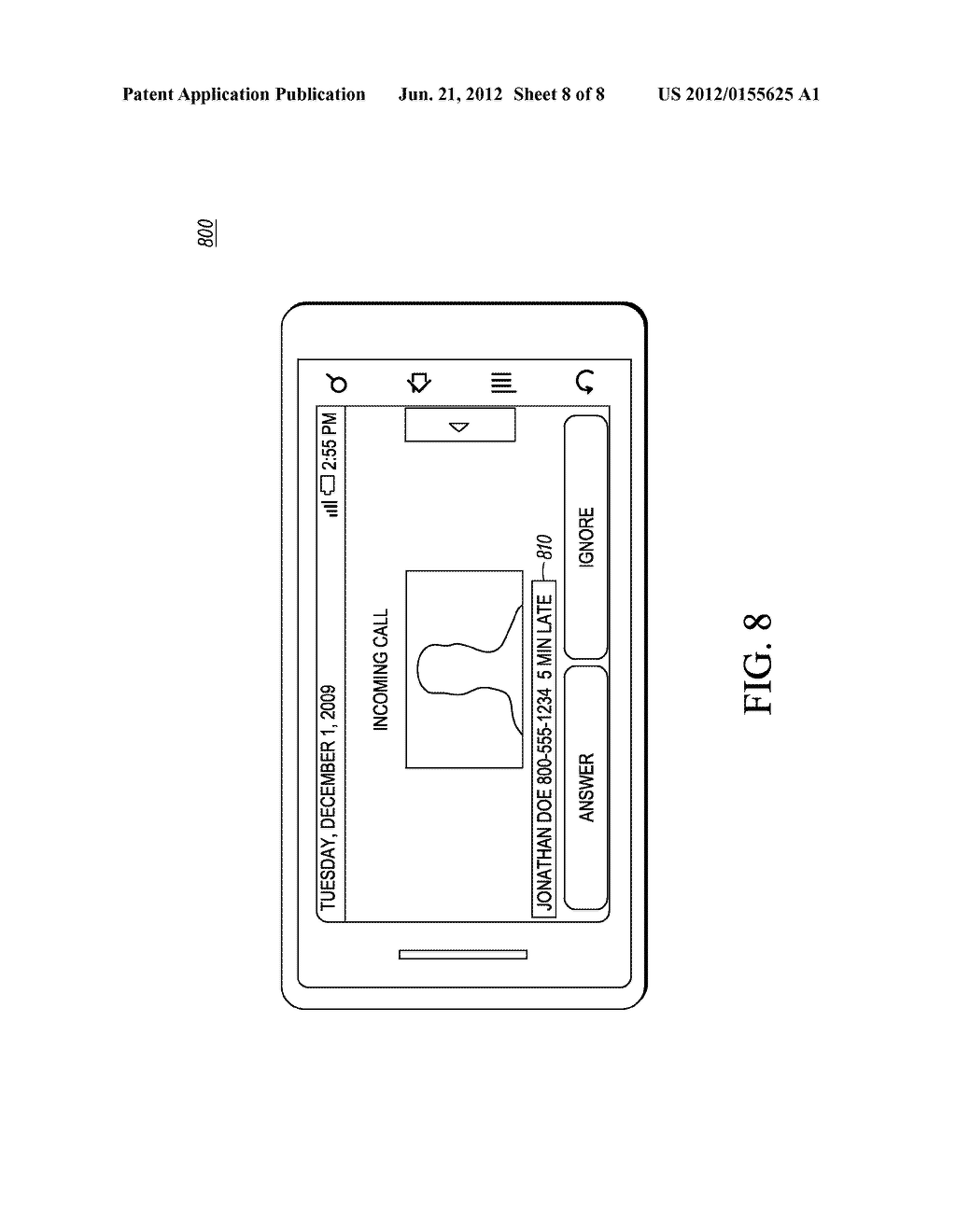 Method and Apparatus for Displaying a Customized Caller Line     Identification - diagram, schematic, and image 09
