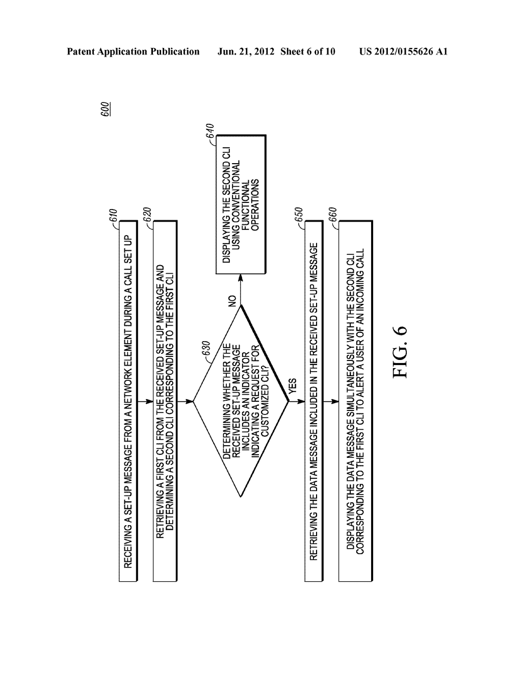 Method and Apparatus for Displaying a Customized Caller Line     Identification - diagram, schematic, and image 07