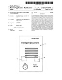 Intelligent document with stored text and image diagram and image