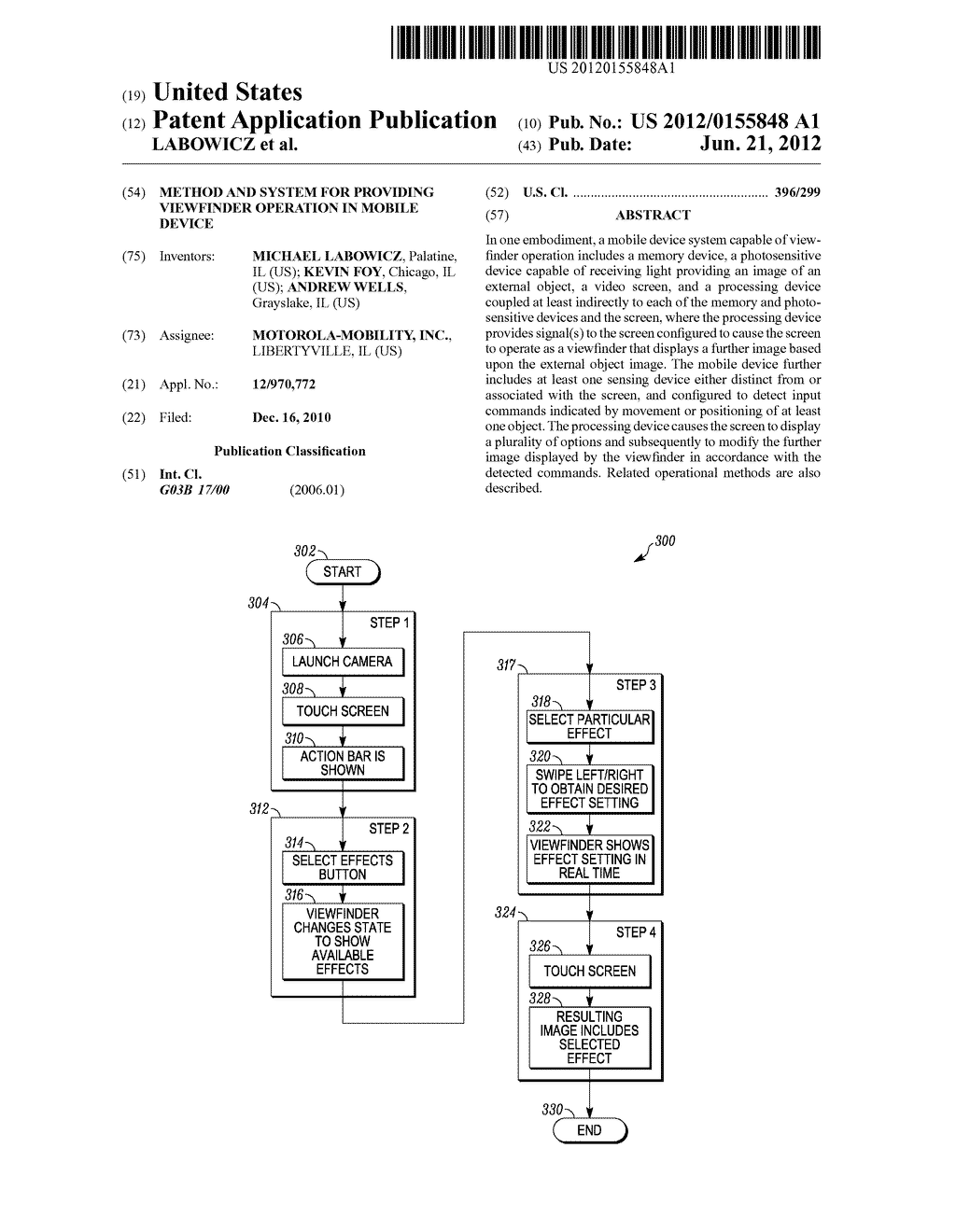 Method and System for Providing Viewfinder Operation in Mobile Device - diagram, schematic, and image 01