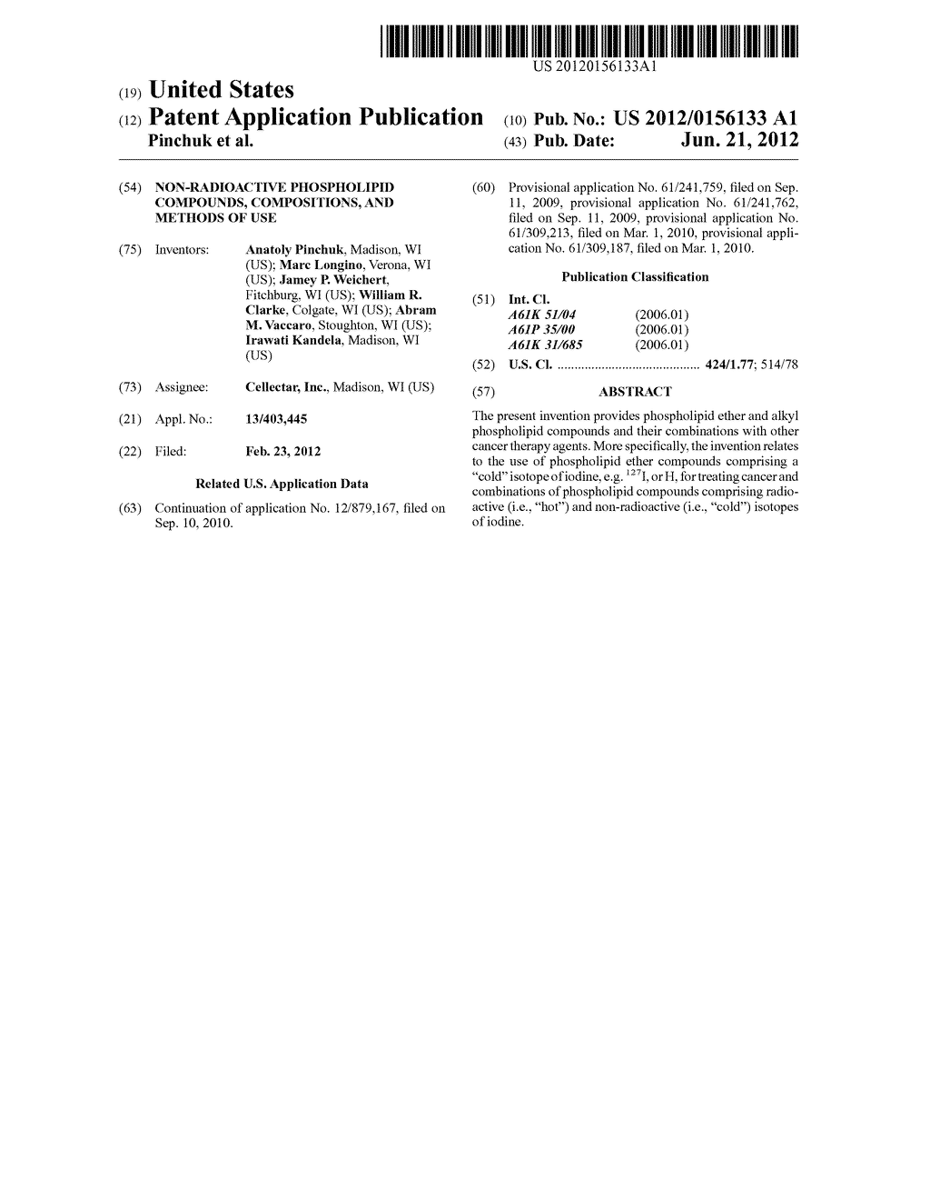 NON-RADIOACTIVE PHOSPHOLIPID COMPOUNDS, COMPOSITIONS, AND METHODS OF USE - diagram, schematic, and image 01