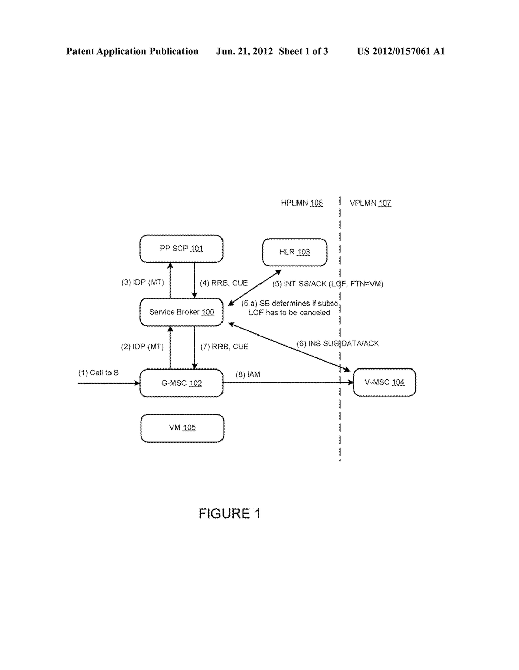 COMMUNICATIONS SERVICE BROKER FOR PREVENTING VOICEMAIL TROMBONING IN THE     TELECOMMUNICATIONS NETWORK - diagram, schematic, and image 02