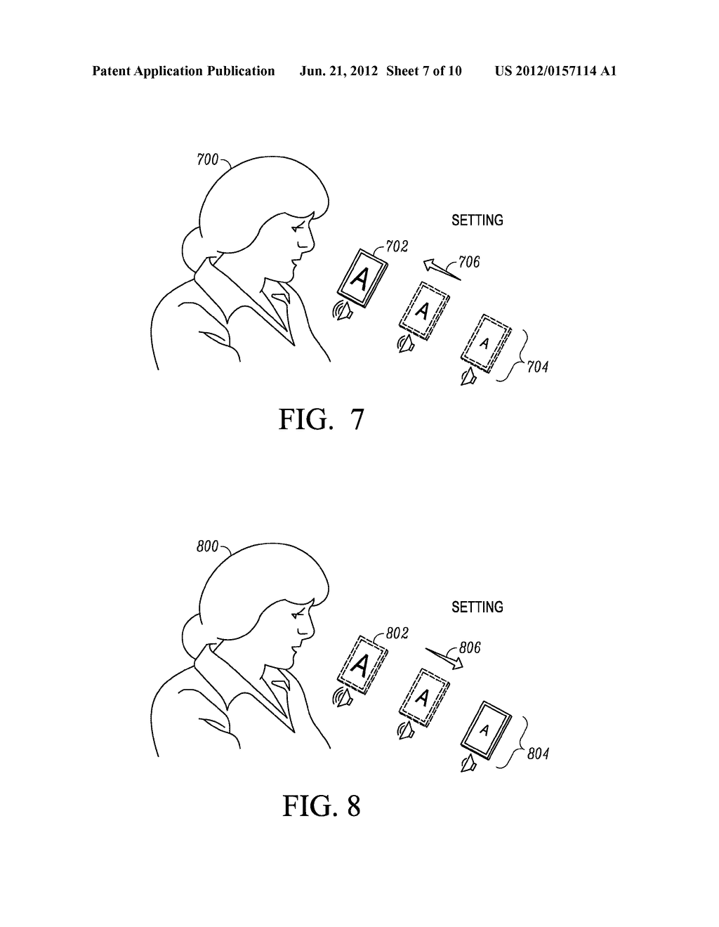 SYSTEM AND METHOD FOR ADAPTING AN ATTRIBUTE MAGNIFICATION FOR A MOBILE     COMMUNICATION DEVICE - diagram, schematic, and image 08