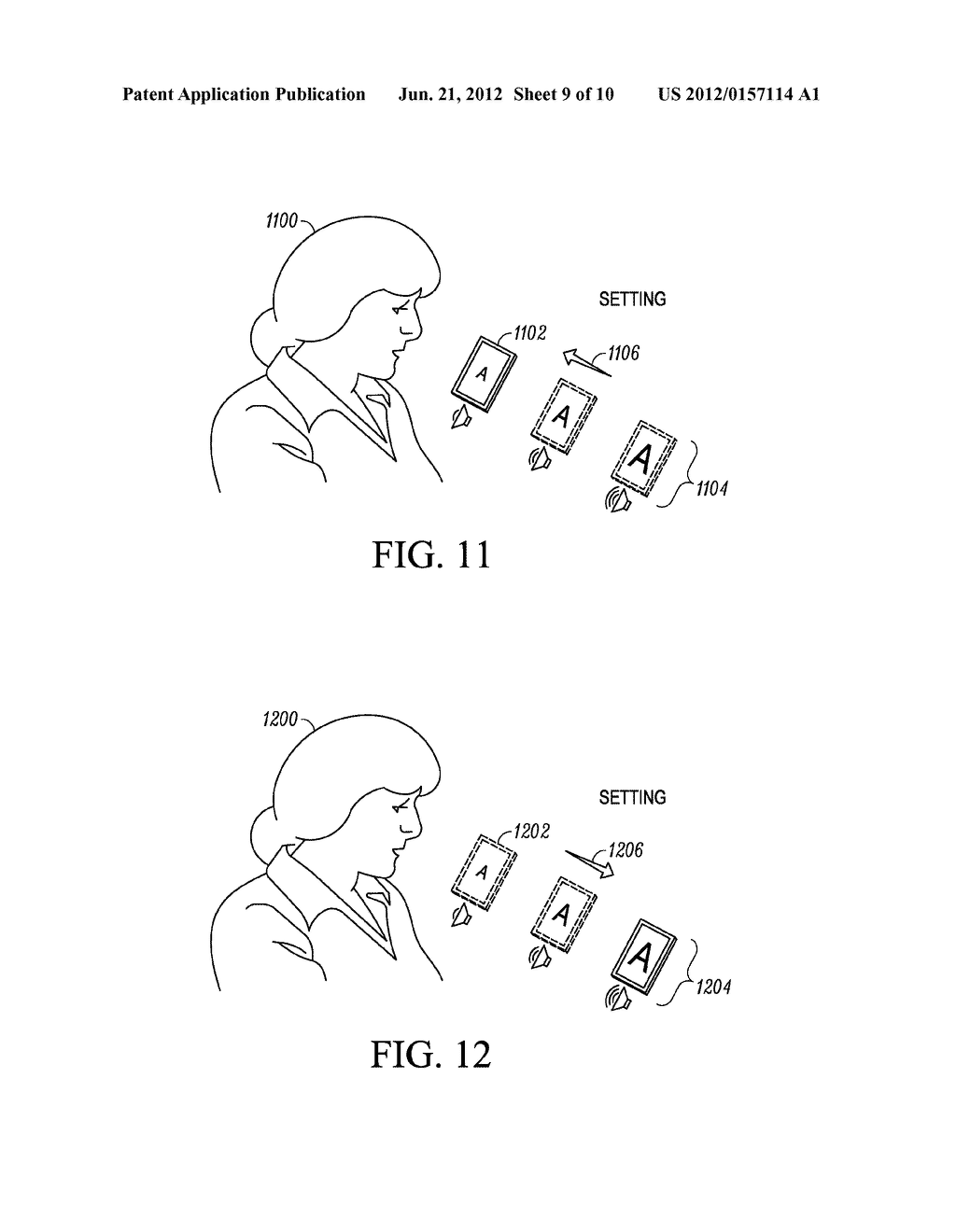 SYSTEM AND METHOD FOR ADAPTING AN ATTRIBUTE MAGNIFICATION FOR A MOBILE     COMMUNICATION DEVICE - diagram, schematic, and image 10