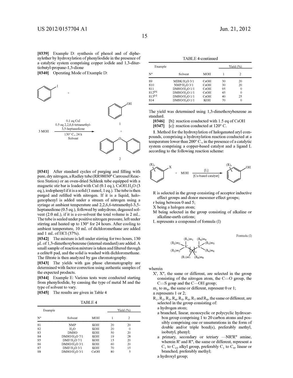 Method for the Hydroxylation of Halogenated Aryl Compounds - diagram, schematic, and image 16