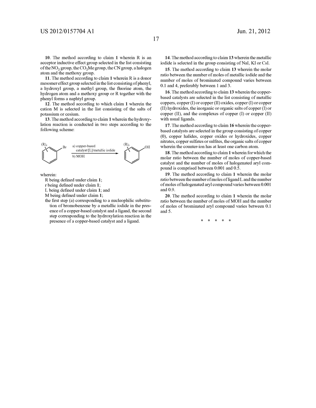 Method for the Hydroxylation of Halogenated Aryl Compounds - diagram, schematic, and image 18