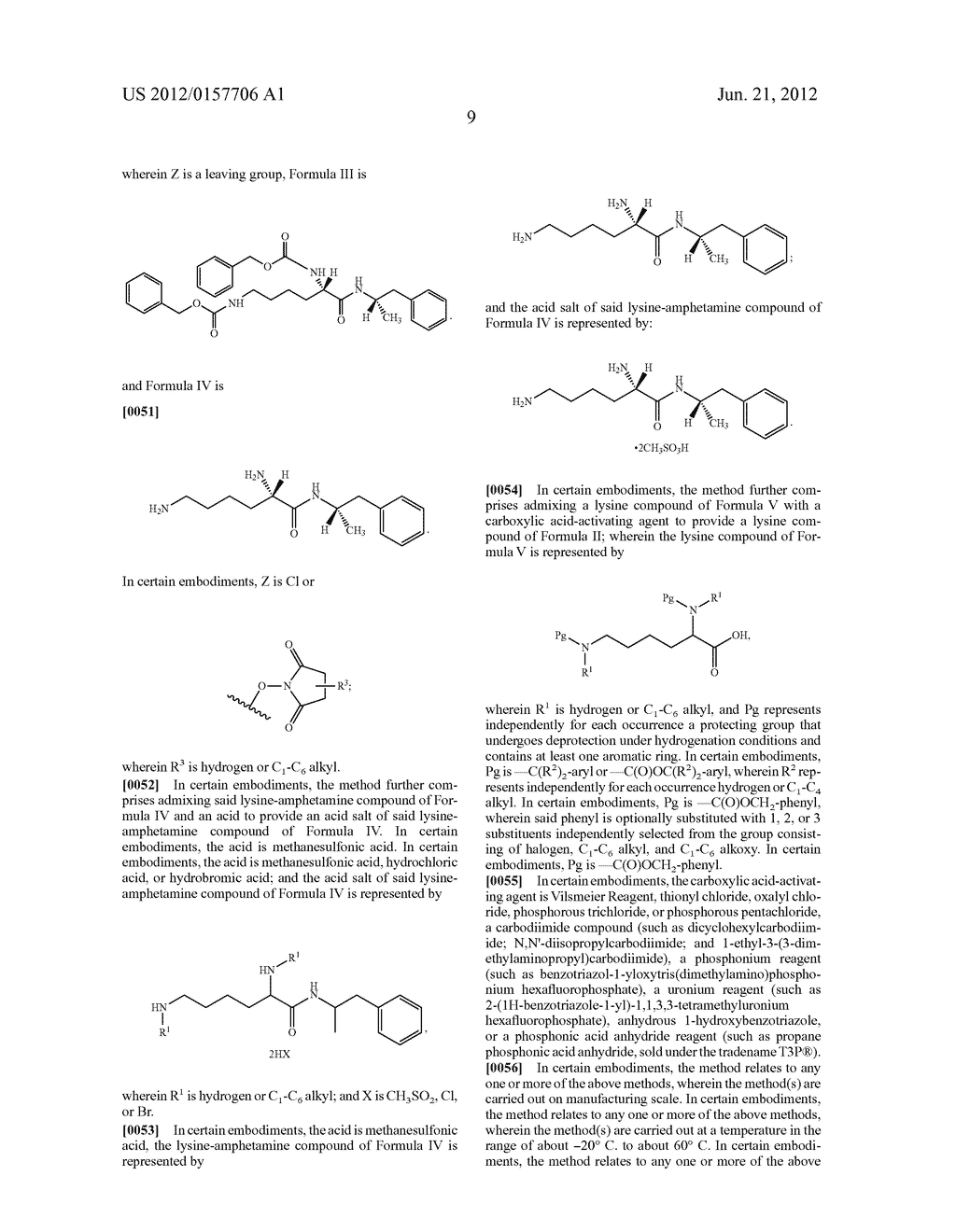 Methods and Compositions for Preparing Lisdexamfetamine and Salts Thereof - diagram, schematic, and image 10
