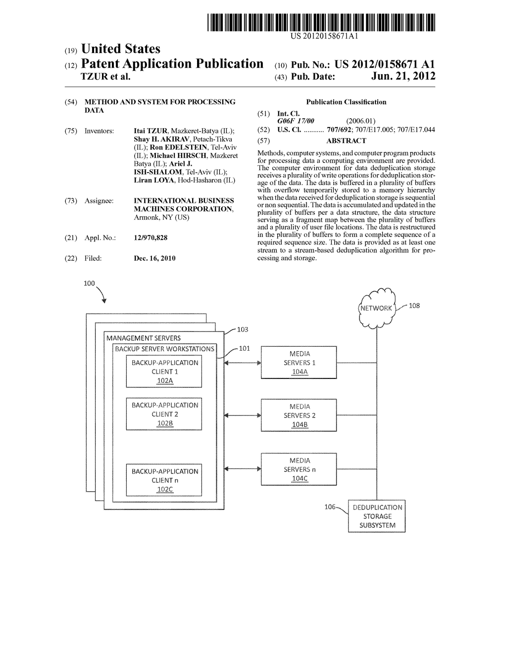 METHOD AND SYSTEM FOR PROCESSING DATA - diagram, schematic, and image 01