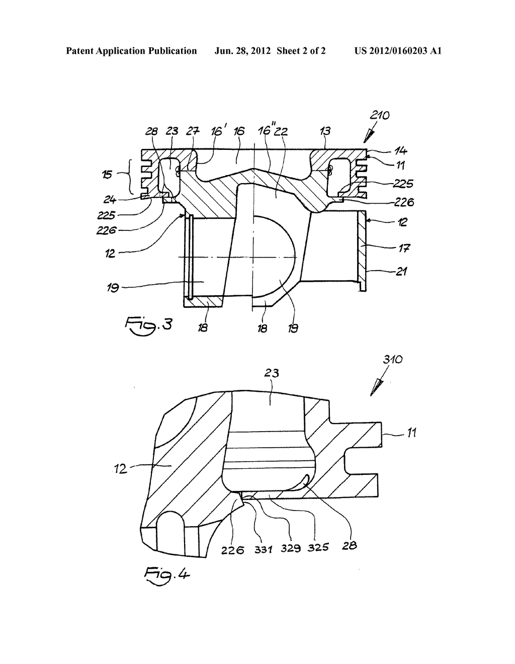 Piston for an internal combustion engine - diagram, schematic, and image 03