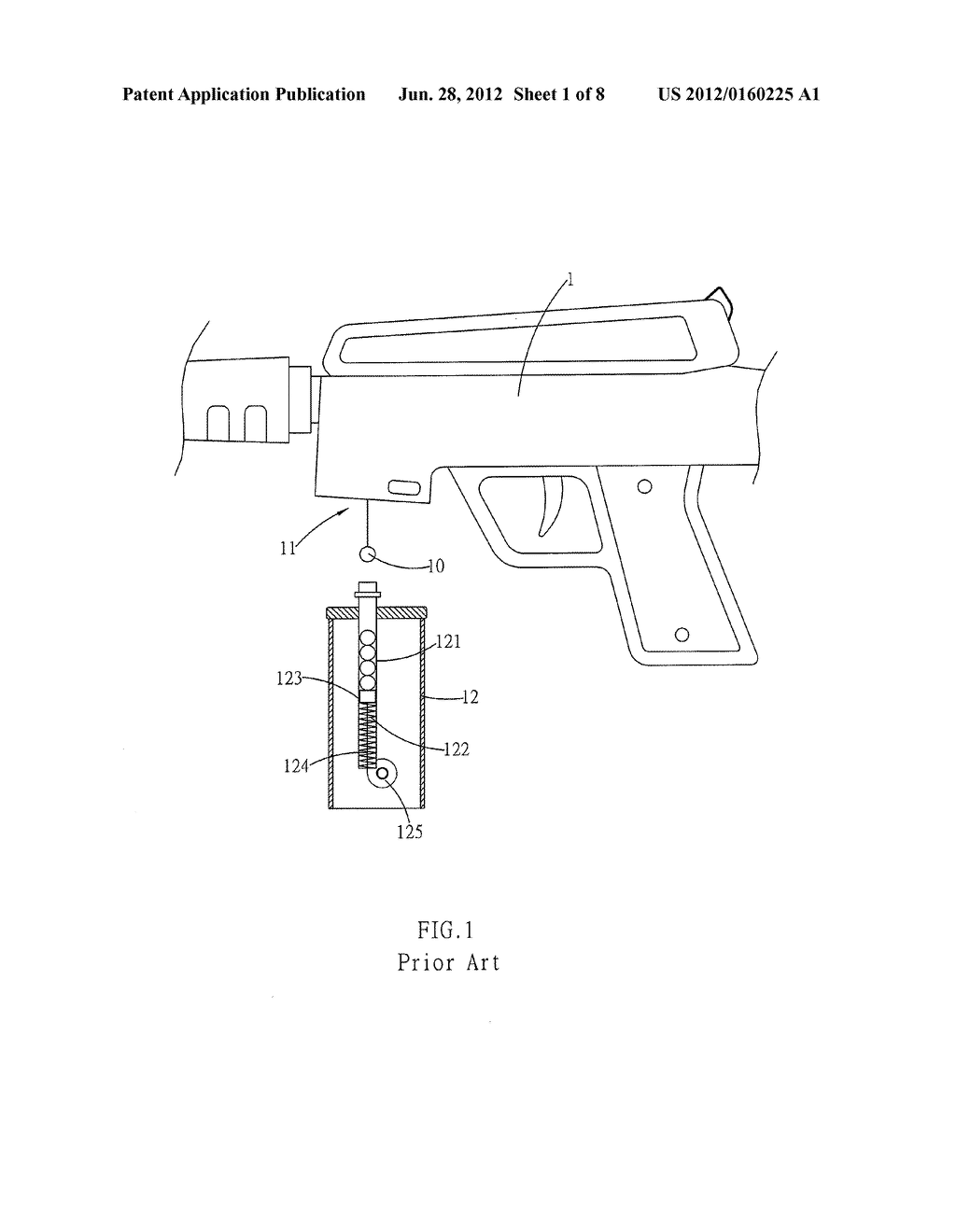 MAGAZINE CLEARING MECHANISM FOR SPHERICAL BULLETS - diagram, schematic, and image 02