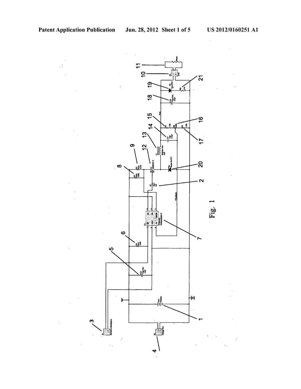 Electronic rechargeable smoking unit - diagram, schematic, and image 02