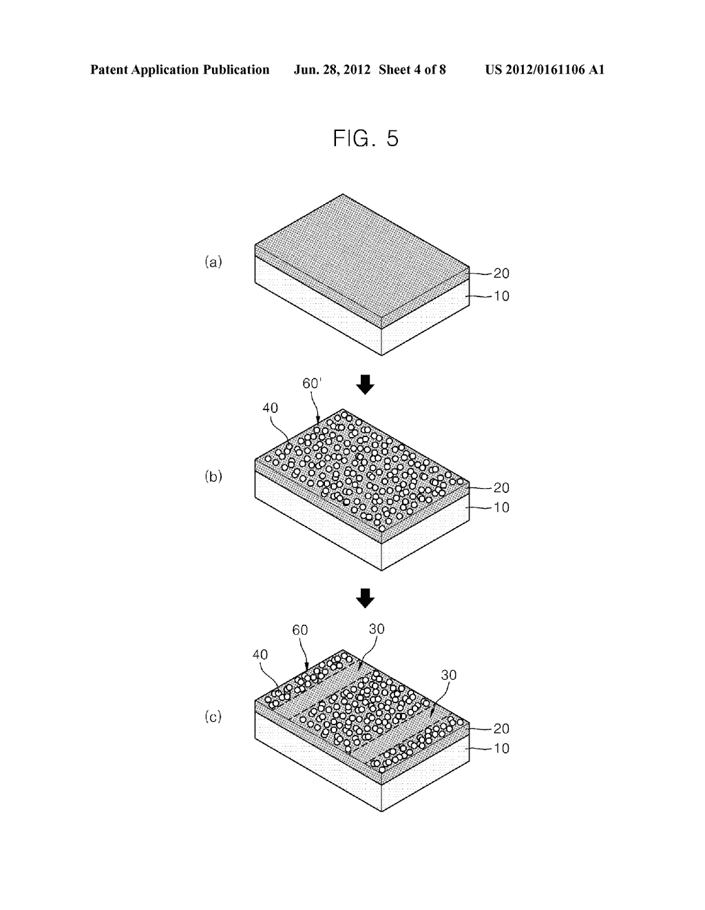 PHOTODETECTOR USING A GRAPHENE THIN FILM AND NANOPARTICLES, AND METHOD FOR     PRODUCING THE SAME - diagram, schematic, and image 05
