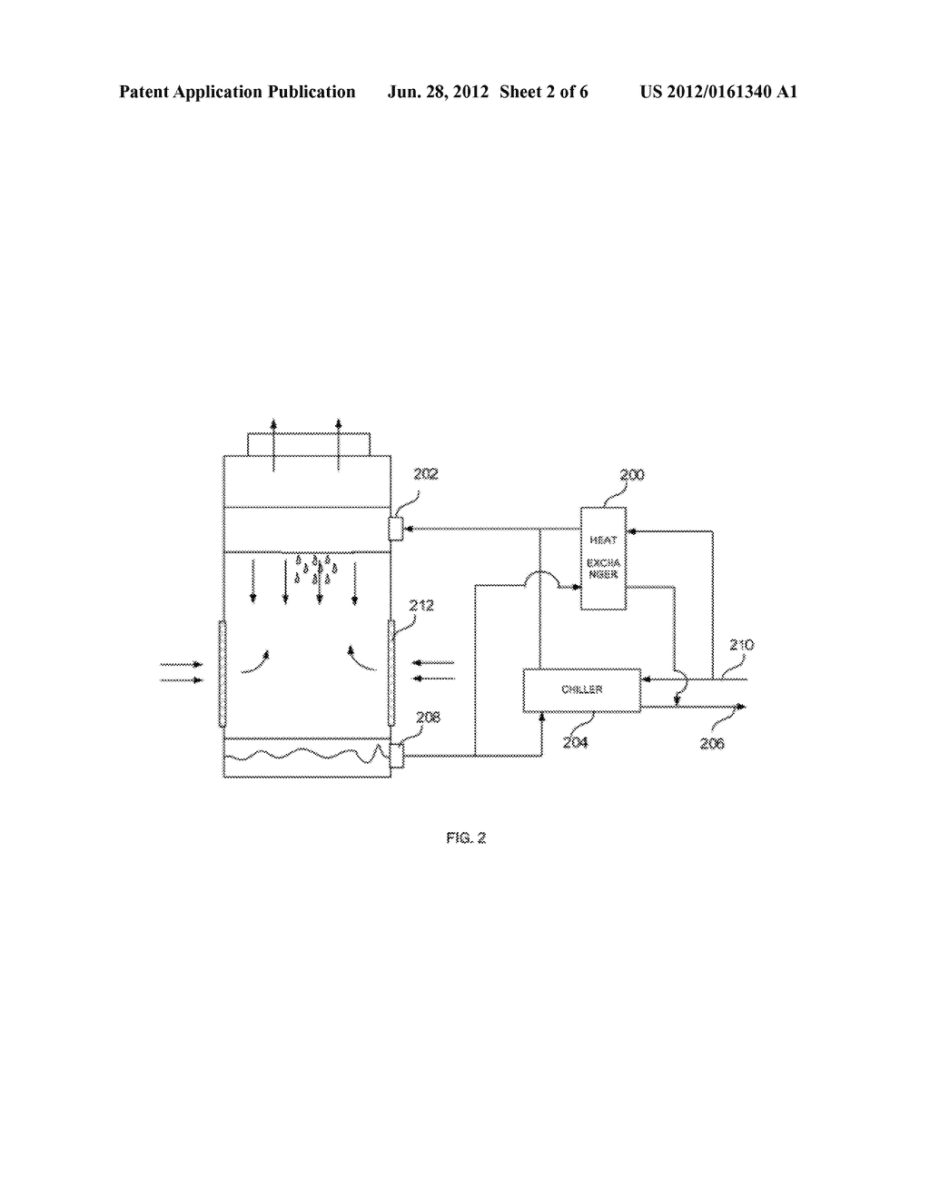 SYSTEM AND METHOD FOR REDUCING MINERAL BUILDUP ON DRIFT ELIMINATORS OF A     COOLING TOWER - diagram, schematic, and image 03
