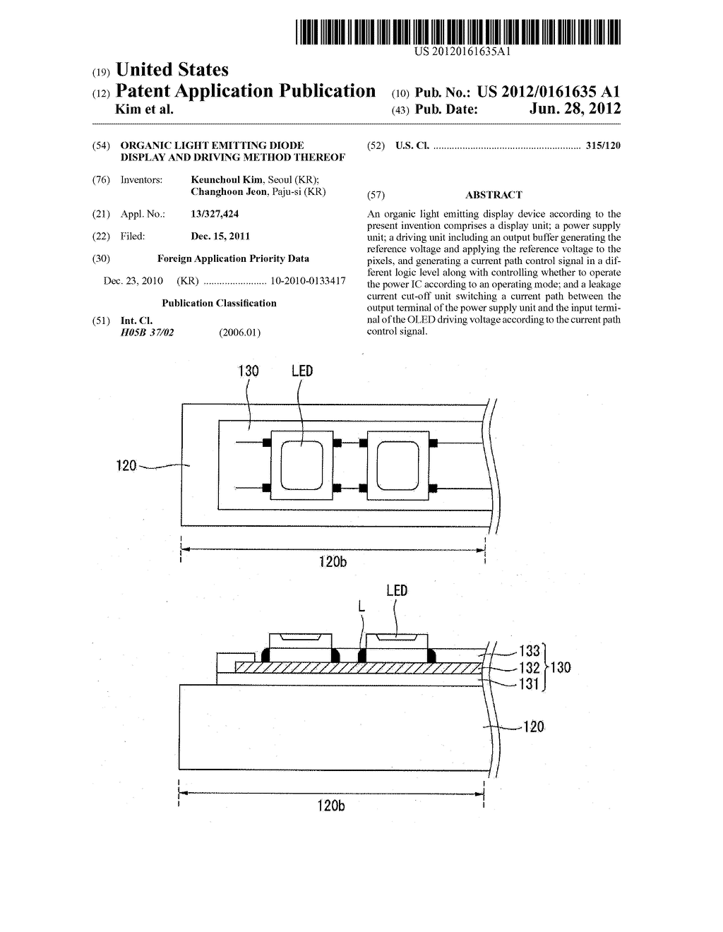 ORGANIC LIGHT EMITTING DIODE DISPLAY AND DRIVING METHOD THEREOF - diagram, schematic, and image 01