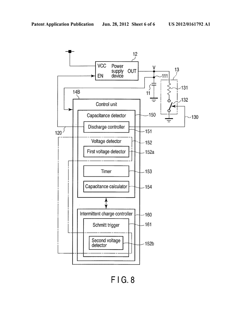 ELECTRONIC DEVICE, AND CAPACITOR CAPACITANCE DETECTION METHOD APPLIED TO     THE SAME - diagram, schematic, and image 07