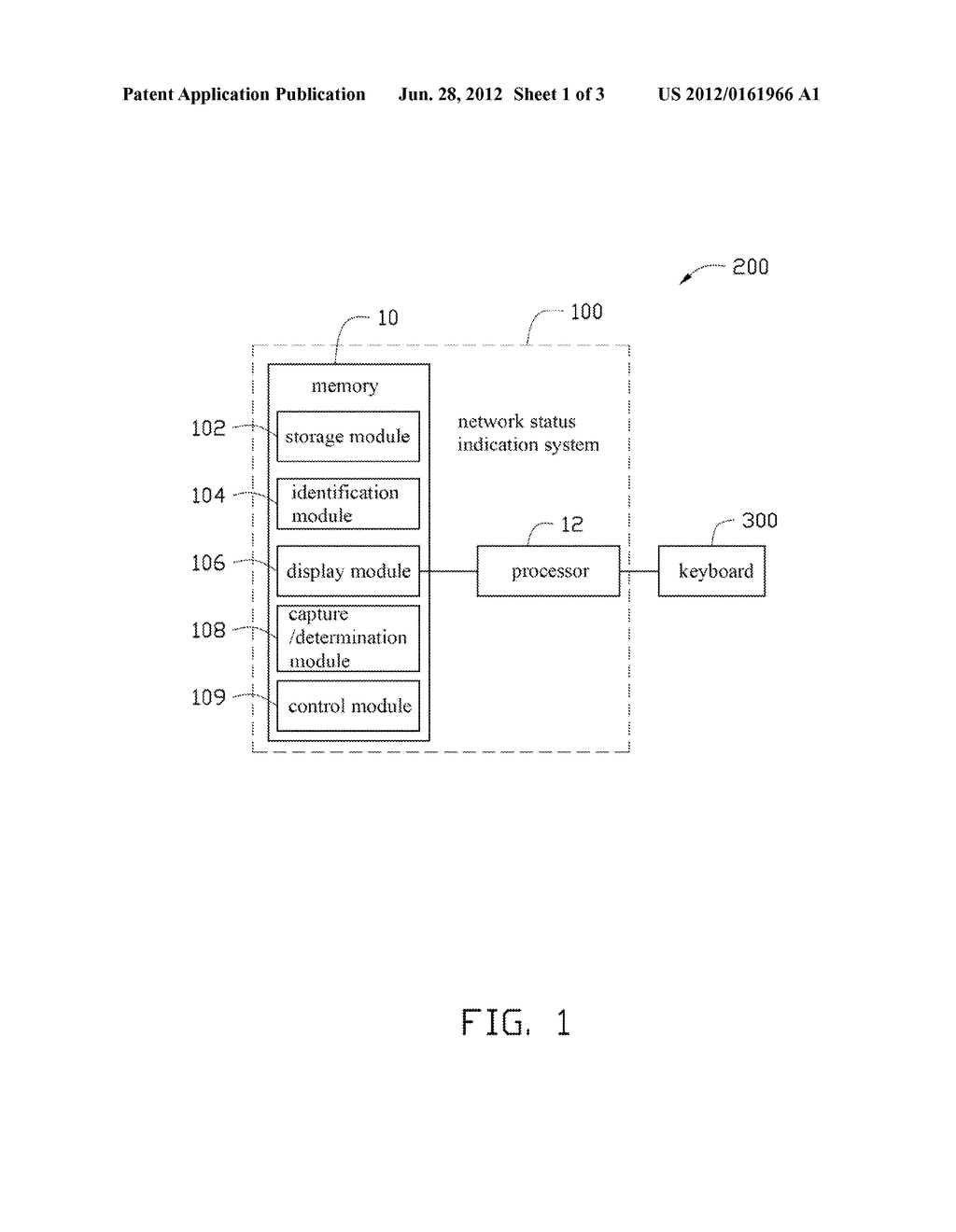 NETWORK STATUS INDICATION SYSTEM AND METHOD THEREOF - diagram, schematic, and image 02