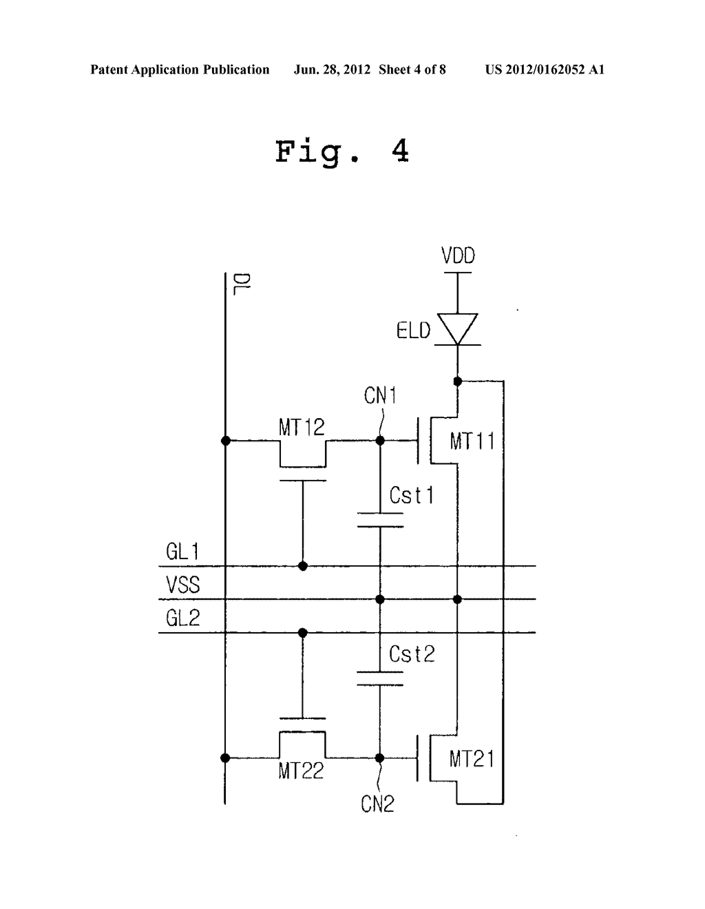ELECTRO-LUMINESCENCE PIXEL, PANEL WITH THE PIXEL, AND DEVICE AND METHOD     FOR DRIVING THE PANEL - diagram, schematic, and image 05