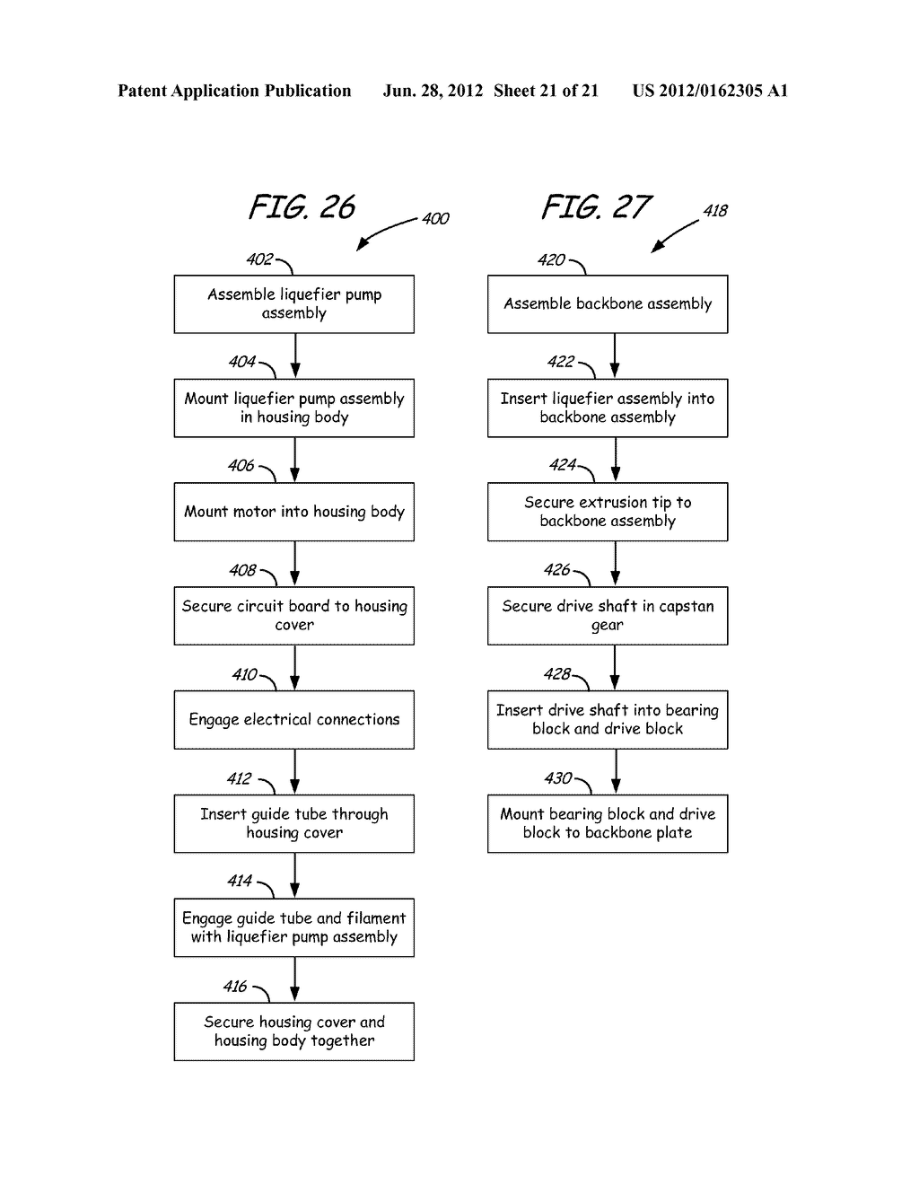 PRINT HEAD FOR USE IN FUSED DEPOSITION MODELING SYSTEM - diagram, schematic, and image 22