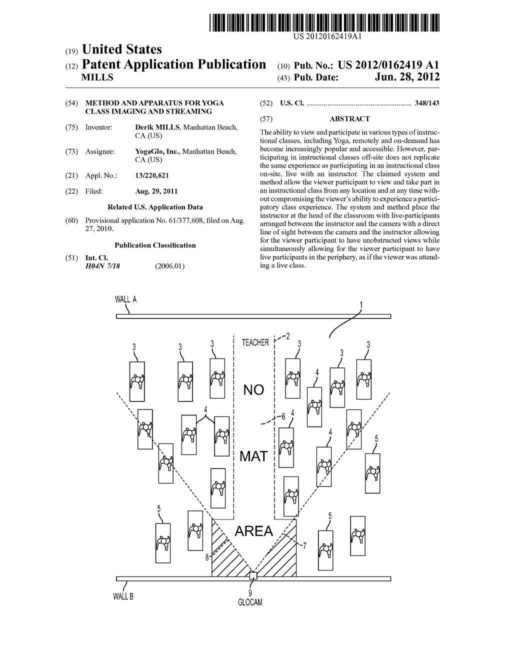 Method and Apparatus for Yoga Class Imaging and Streaming - diagram, schematic, and image 01