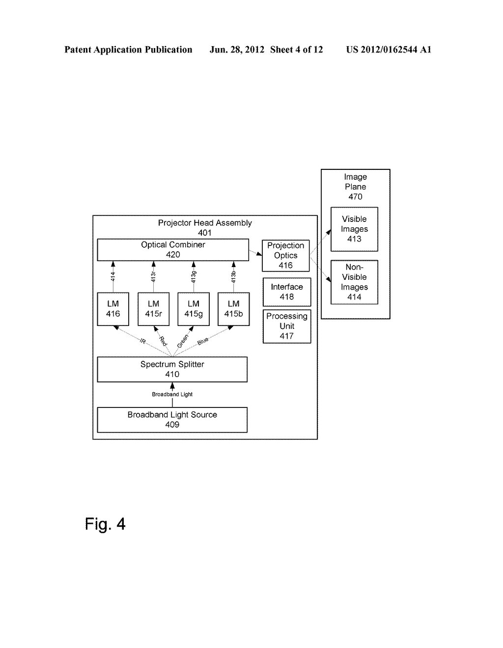 METHOD, SYSTEM AND APPARATUS FOR PROJECTING VISIBLE AND NON-VISIBLE IMAGES - diagram, schematic, and image 05